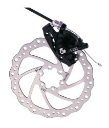 Tektro brake set (front wheel), model Aquila MD-M500F, black