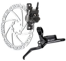 Tektro brake set (front wheel), model Draco HD-M350, black