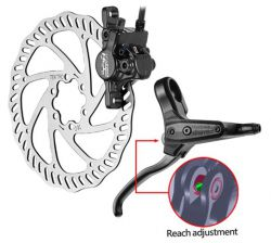 Tektro brake set (rear wheel), model Aquila HD-M330, black