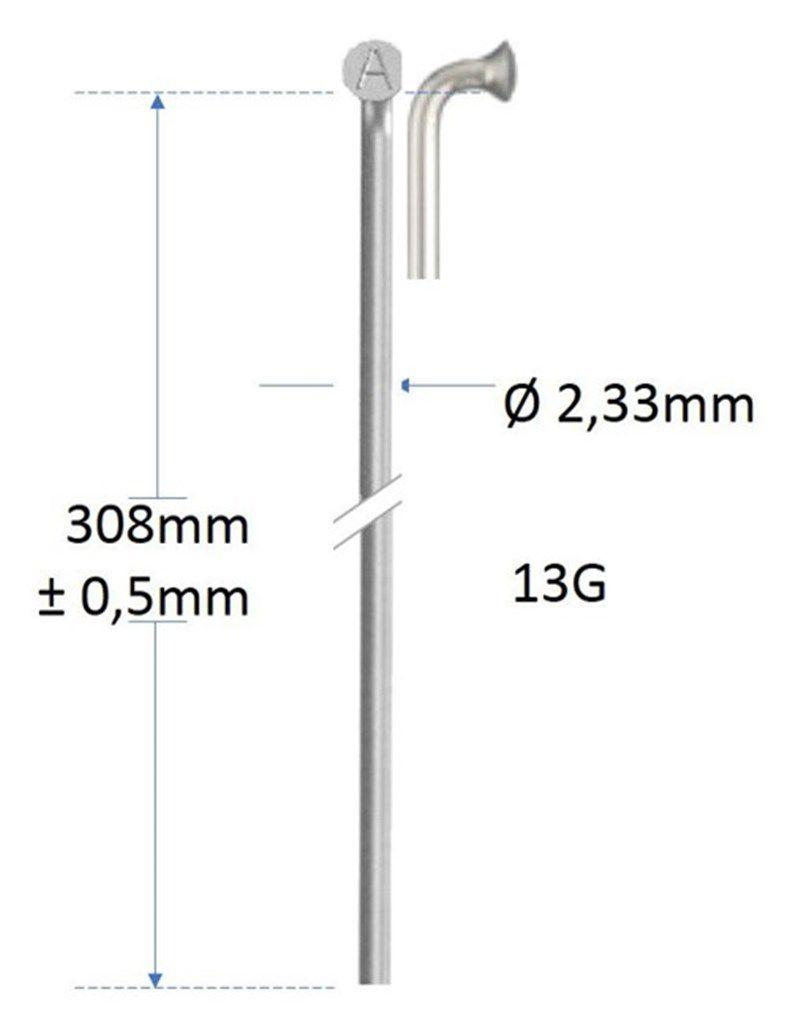 alpina spaak 13g308mm233mm zonder draad verzinkt zilver gros