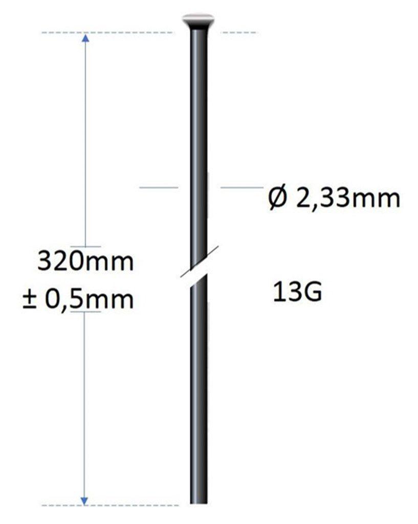 alpina spaak 13g320mmkop 233mmlijf zonder draad rvs zwart 100