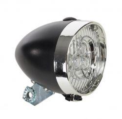 Catch-It koplamp retro 3xLED, zwart