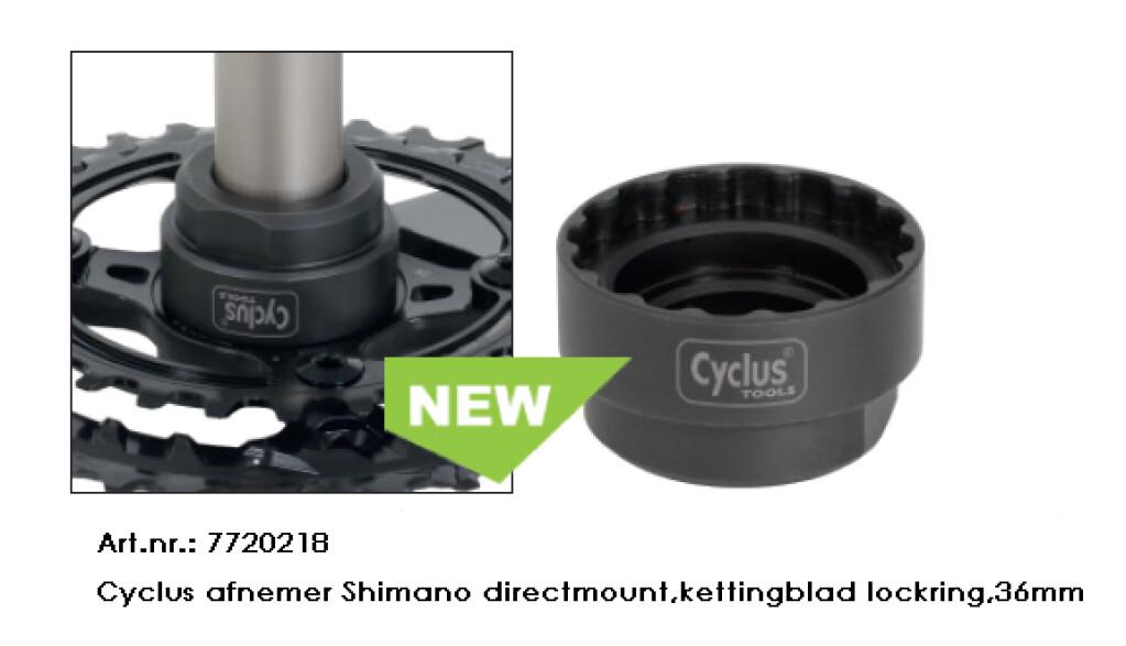 cyclus afnemer shimano directmountkettingblad lockring36mm