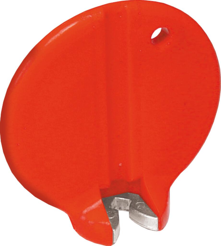 cyclus nippelspanner 32mm14g kunststofrvs rood