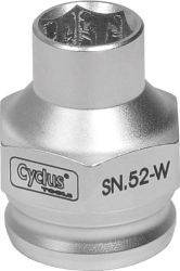 Cyclus snap.in crankboutdop SN.52-W, 15mm