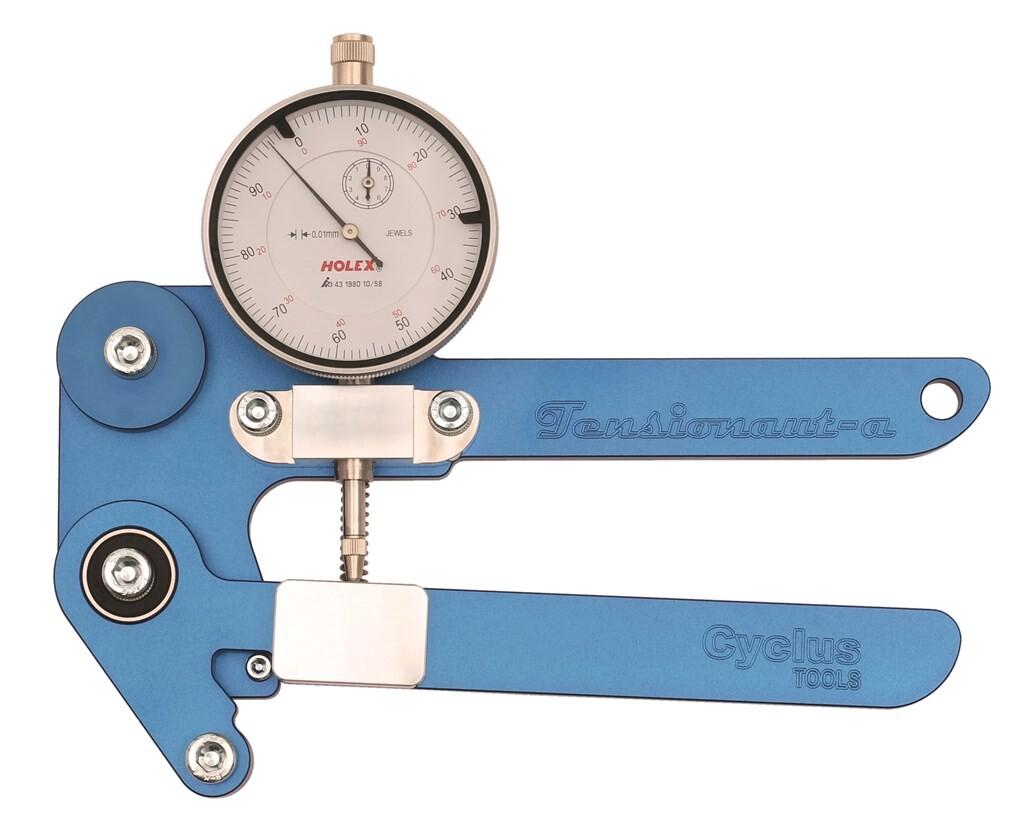 cyclus tensionaut spaakspanningsmeter analoog in koffer