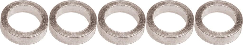gebhardt bladbout alu 5mmmoer voor baanblad zilver per 5