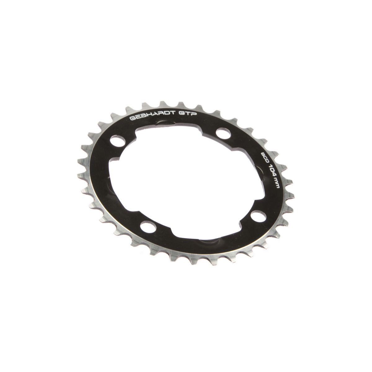 gebhardt chainring classic bcd 104 mm 4hole 37t black