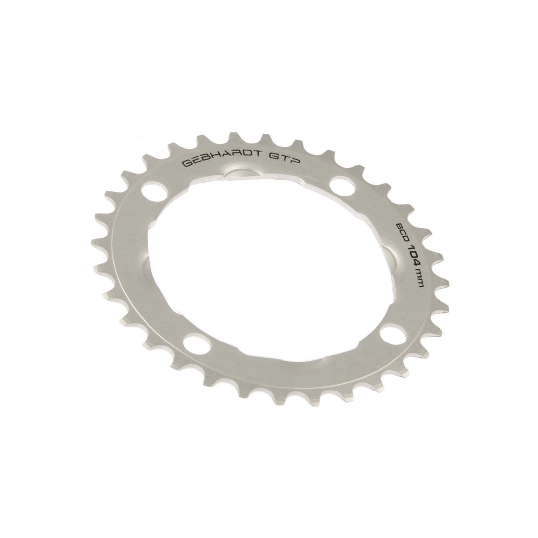 gebhardt chainring classic bcd 104 mm 4hole 38t silver