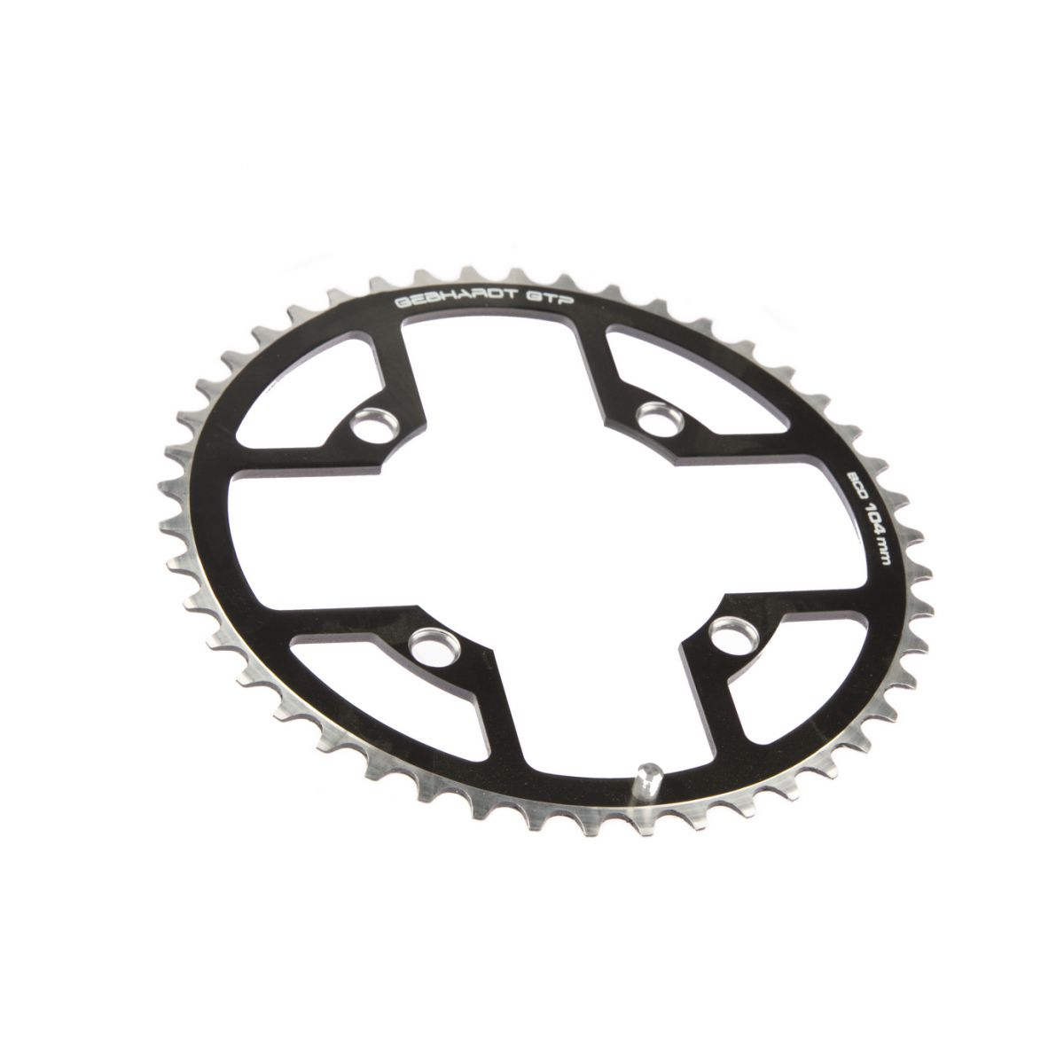gebhardt chainring classic bcd 104 mm 4hole 46t black