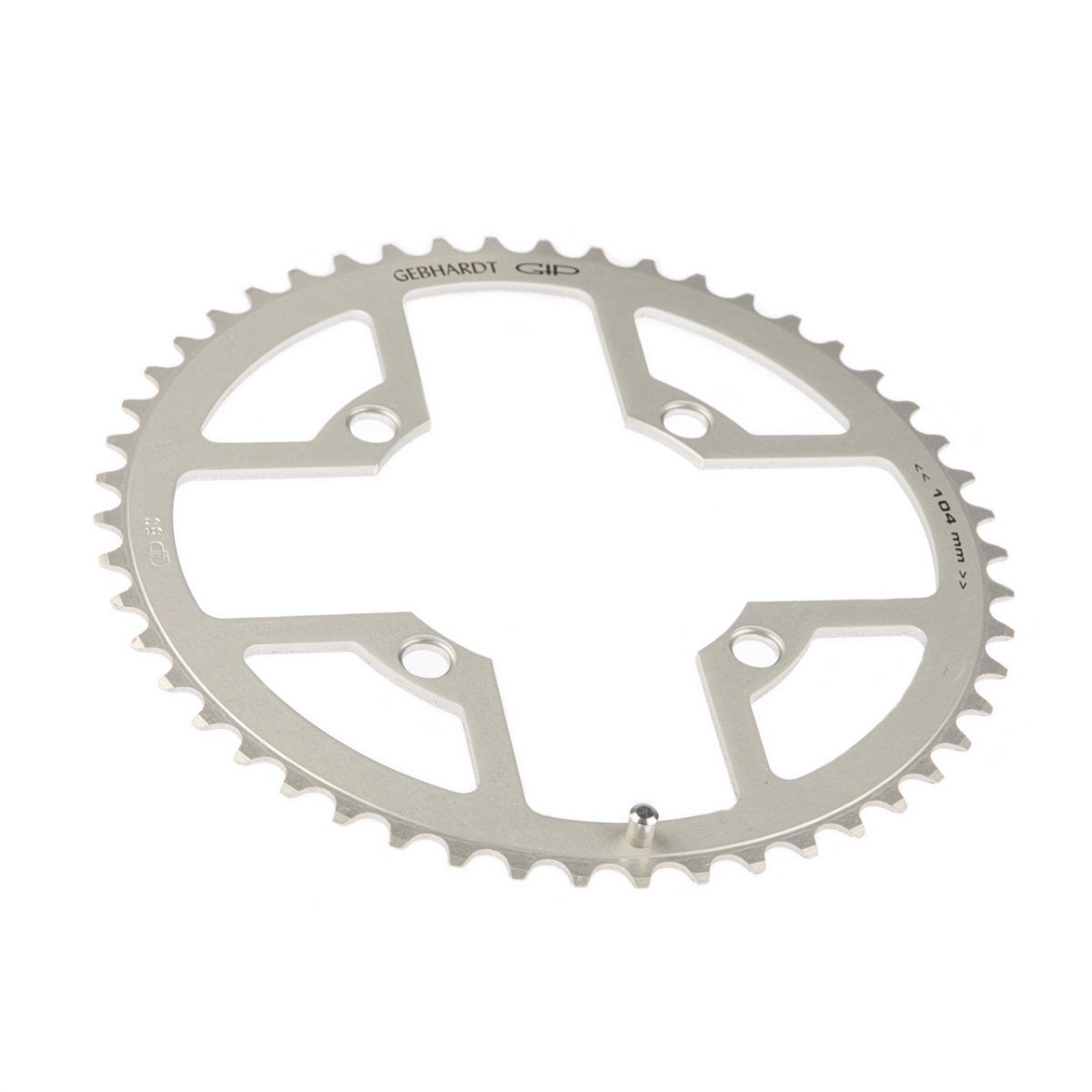 gebhardt chainring classic bcd 104 mm 4hole 50t silver