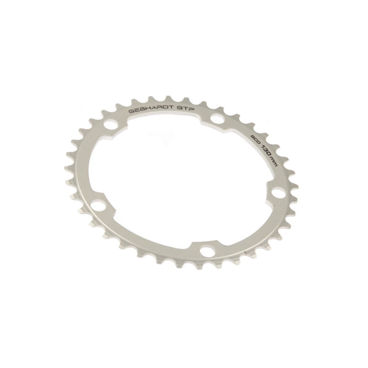 gebhardt chainring classic bcd 130 mm 5hole 38t silver
