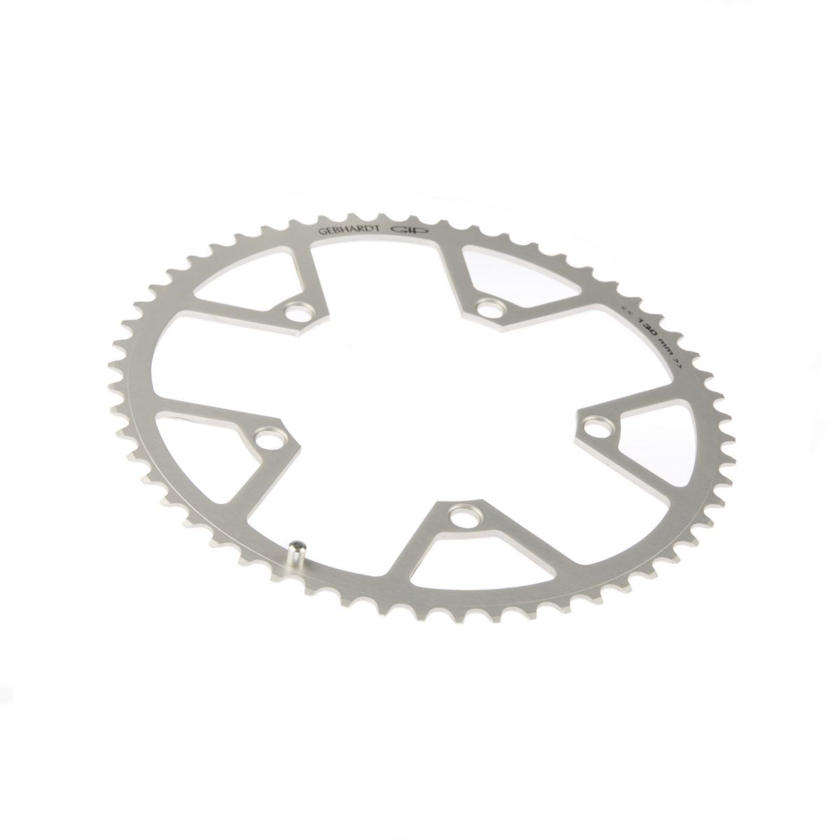 gebhardt chainring classic bcd 130 mm 5hole 53t silver
