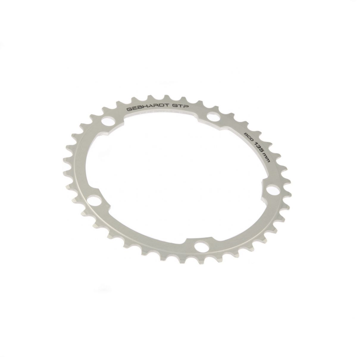 gebhardt chainring classic bcd 135 mm 5hole 42t silver