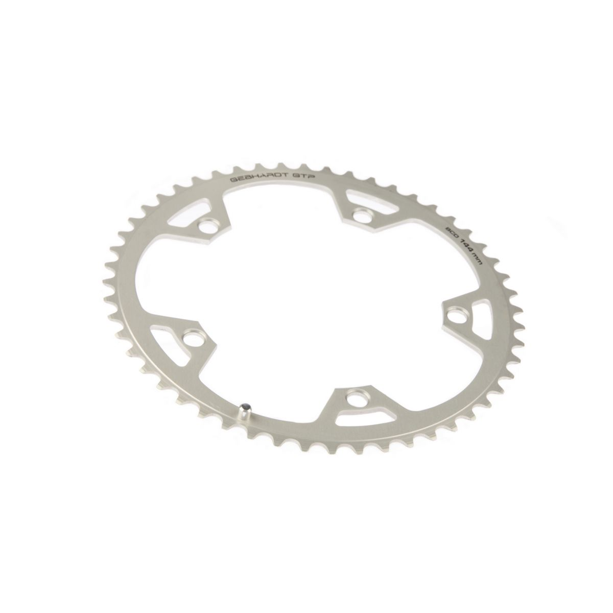 gebhardt chainring classic bcd 144 mm 5hole 44t silver
