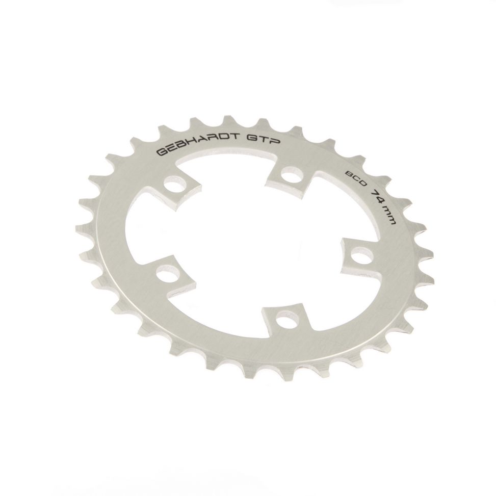 gebhardt chainring classic bcd 74 mm 5hole 34t silver