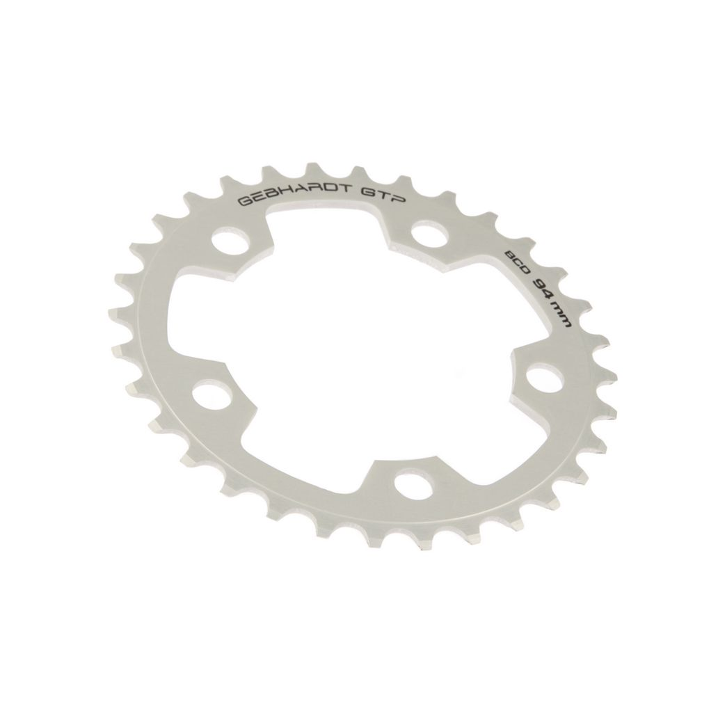 gebhardt chainring classic bcd 94 mm 5hole 36t silver