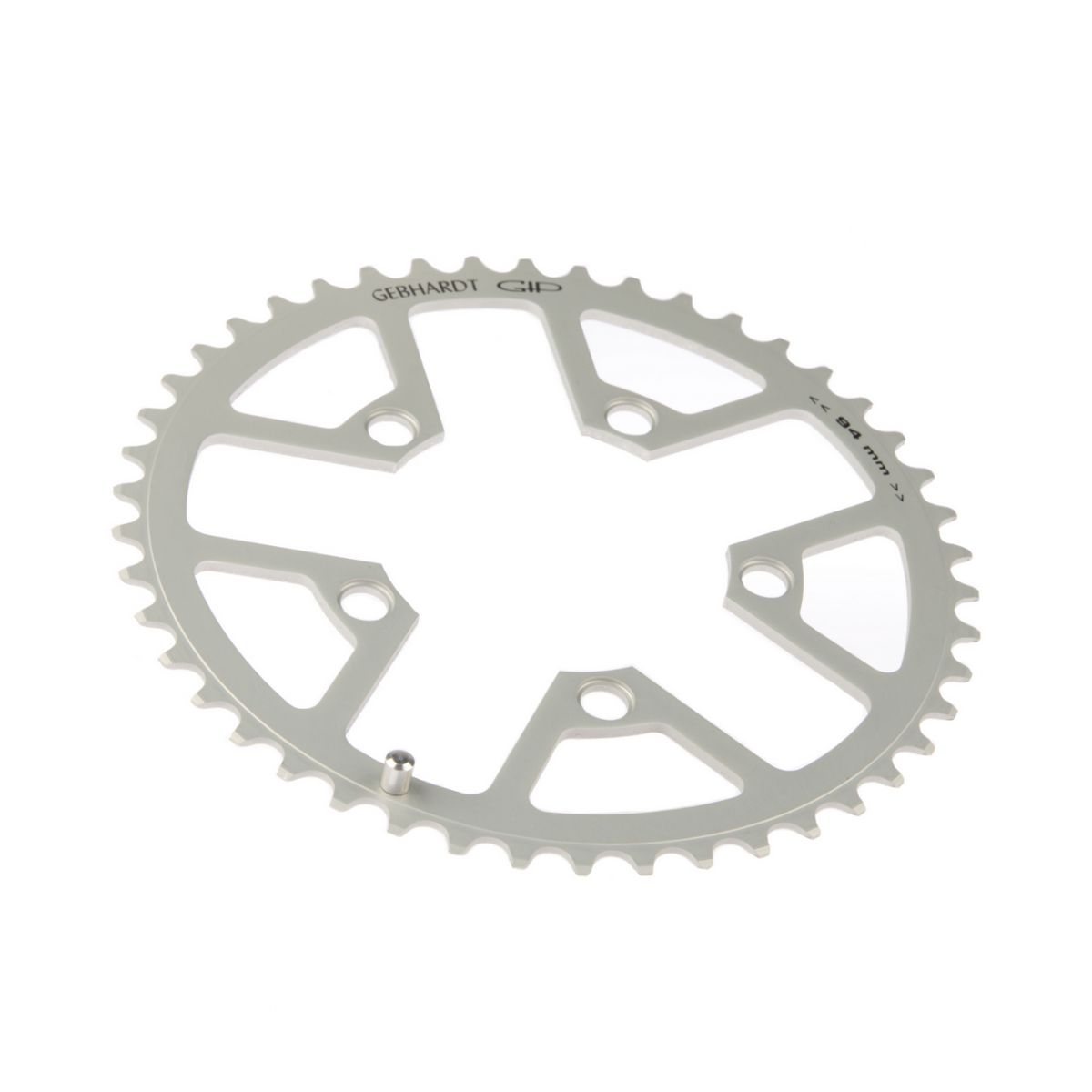 gebhardt chainring classic bcd 94 mm 5hole 44t silver