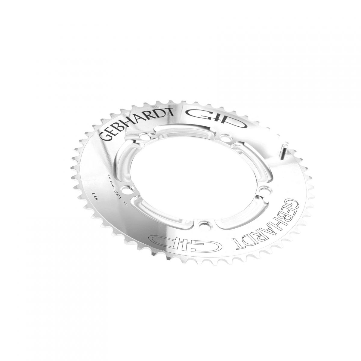 gebhardt chainring cnc ch time trial bcd 130 mm 5hole 53t silver