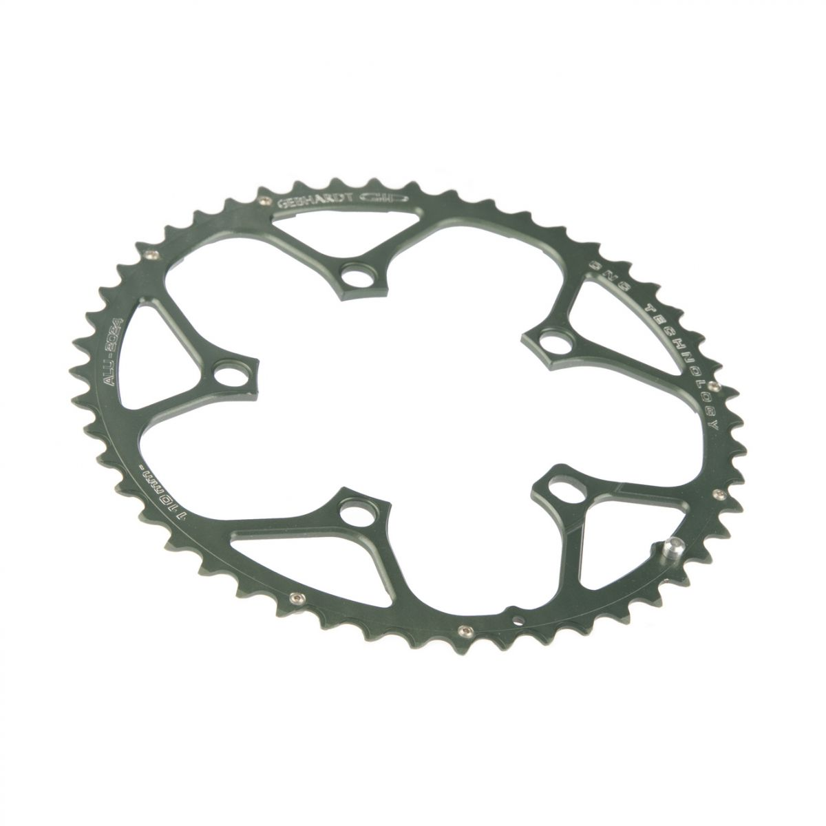 gebhardt chainring cnc ultra torque record chorus bcd 110 mm 5hole 50t black