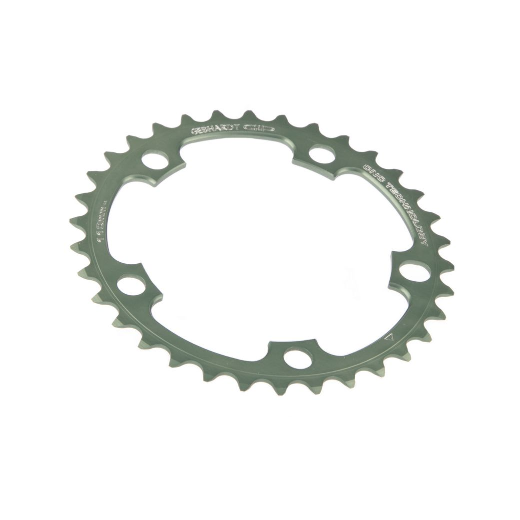 gebhardt chainring cnc ultra torque veloce mirage bcd 110 mm 5hole 39t black