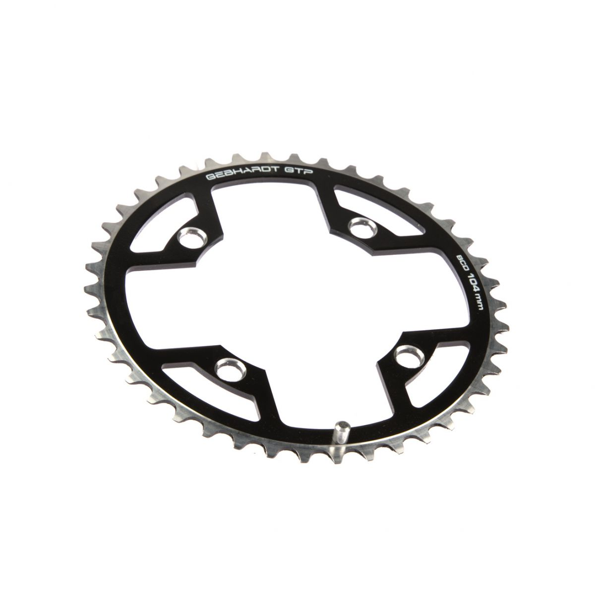 gebhardt chainring cover rock ring classic bcd 104 mm 4hole 42t black
