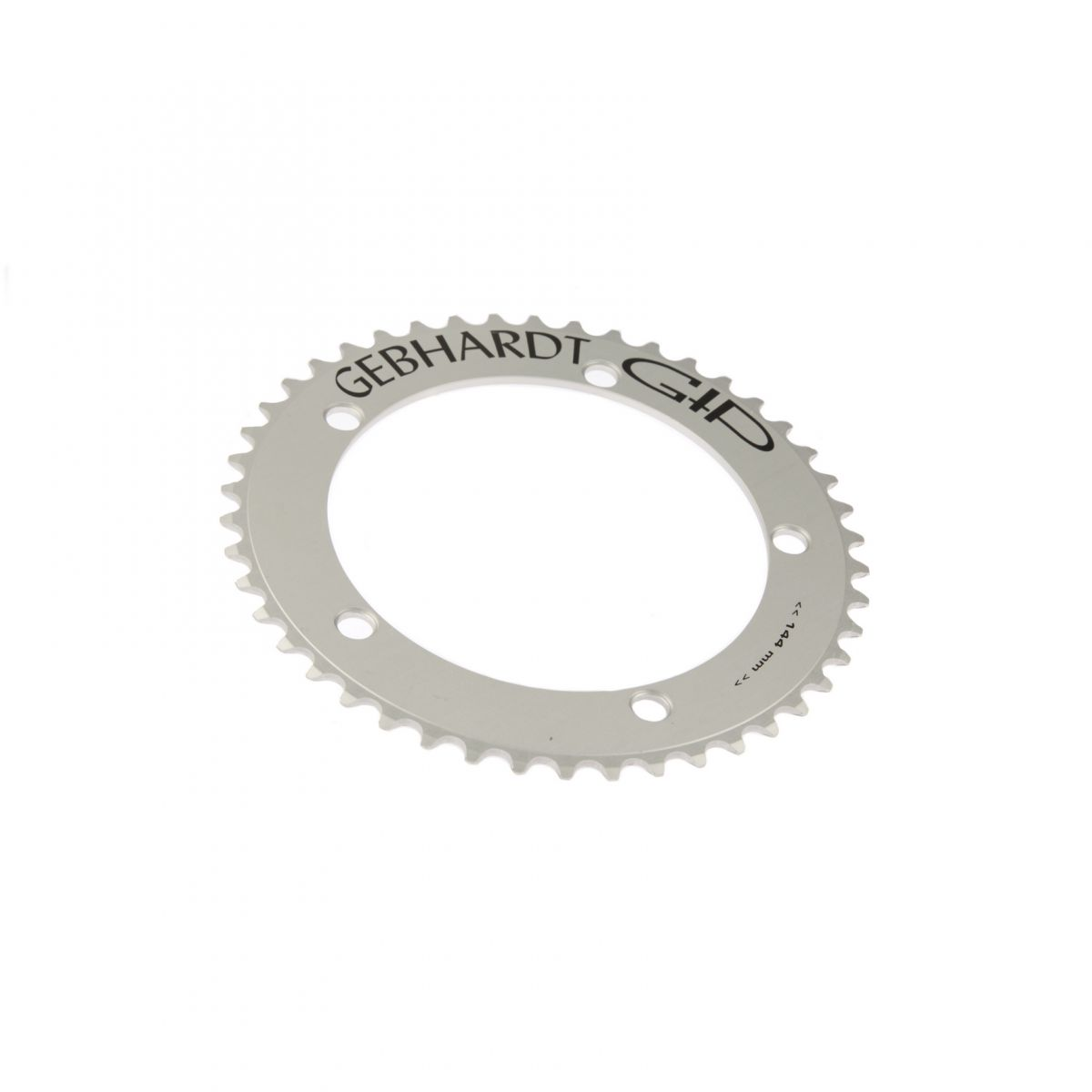 gebhardt chainring track 3mm bcd 144 mm 5hole 46t silver