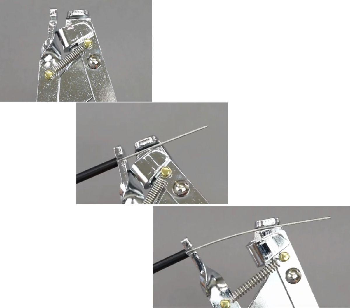 hozan kabelspantang c356 met trekveer 25mm zilver