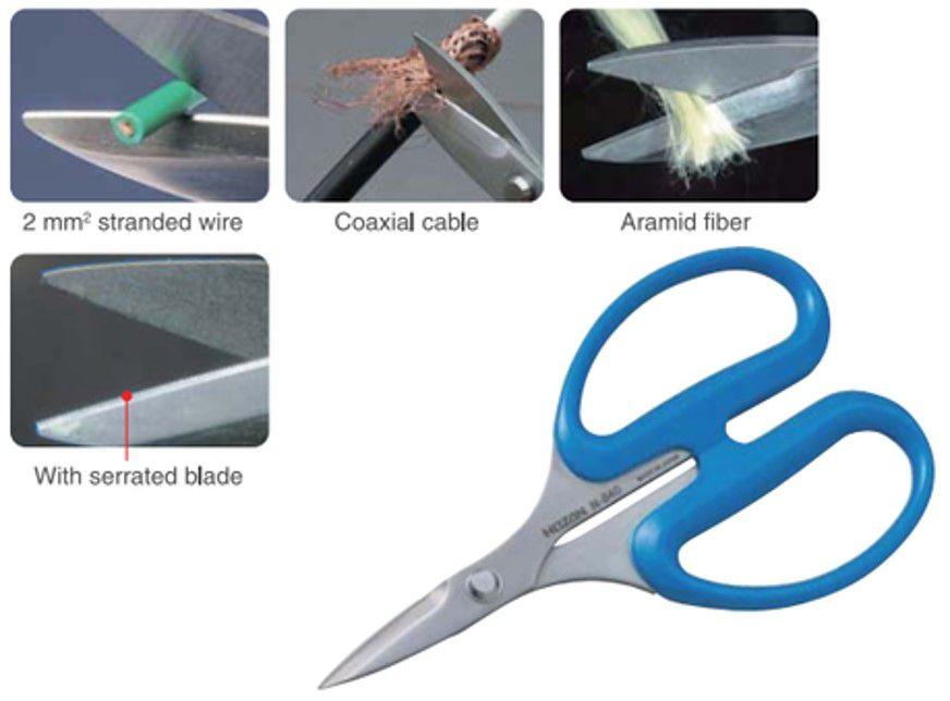 hozan scissors n840 sawshaped blade silver
