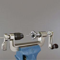 Hozan spaakdraadmachine C-702-, voor bankschroefklem, met draadsnijkop 14G-BC2.0, zilver
