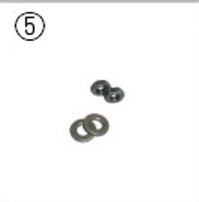 hozan spare nut set c4515 for fork spreader 2 pcs black