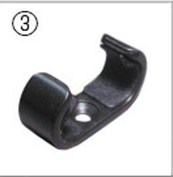 hozan verstellerdeel c4513 klem voor vorkuitzetter voor c451 zwart