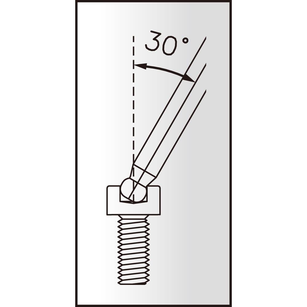 icetoolz 6kantsleutel 7m25 twinhead met kogelkop 25mm zilverzwart