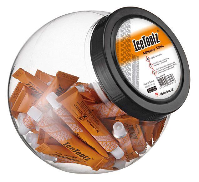 icetoolz adhesive fixative 66g1 50 tubes in a pot 10ml orange