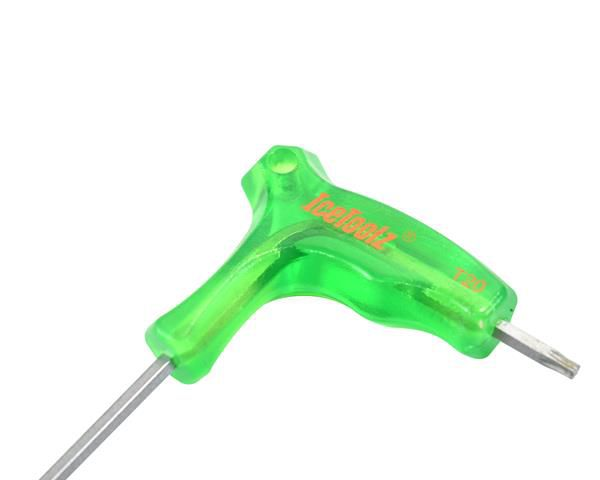 icetoolz allen key 7t twinhead with handle t20 green