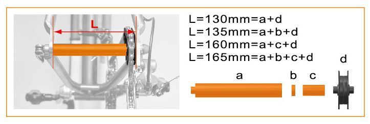 icetoolz auxiliary axis 30c1 chainmaster orange