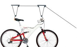 IceToolz bicycle lift P621, with 2 pulleys for max. 25 kg., black