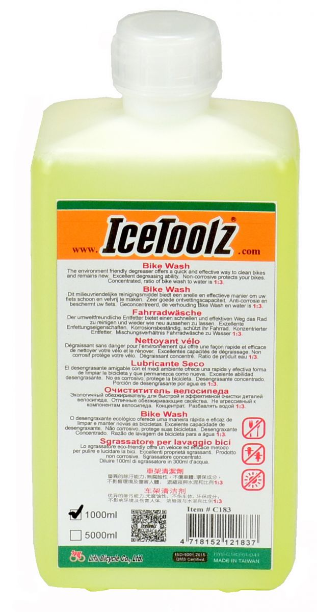 icetoolz bike wash c183 1l transparent