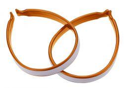 IceToolz broekklemmen 21C2, met 3M® Scotchlite reflectie set van 2 stuks, oranje
