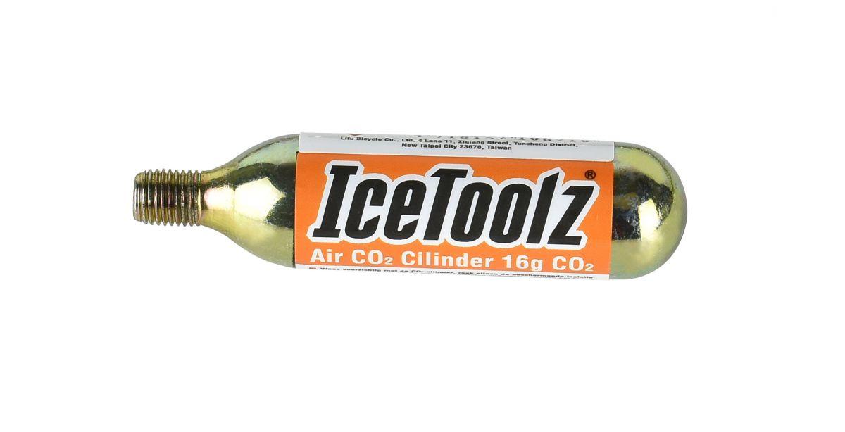 icetoolz co2 patroon a821 50 stuks in pot 16 gram zilver
