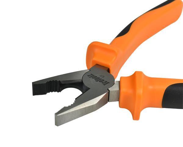 icetoolz combination pliers 28c2 comfortgrip 18cm7 orange