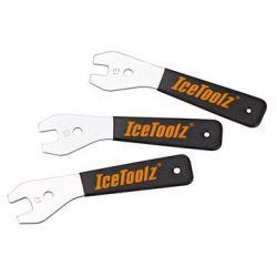 IceToolz conussleutel 47X3, 3-delig 13/15/17mm, zwart