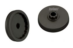 IceToolz crankadapter 11F3, Shimano Hollowtech II, zwart