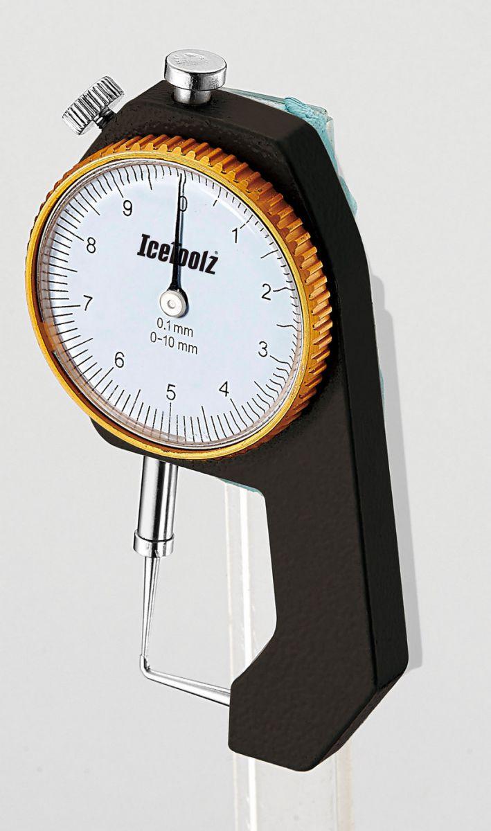 icetoolz diktemeter 55c1 voor remschijf en velgwand 0110mm zwart