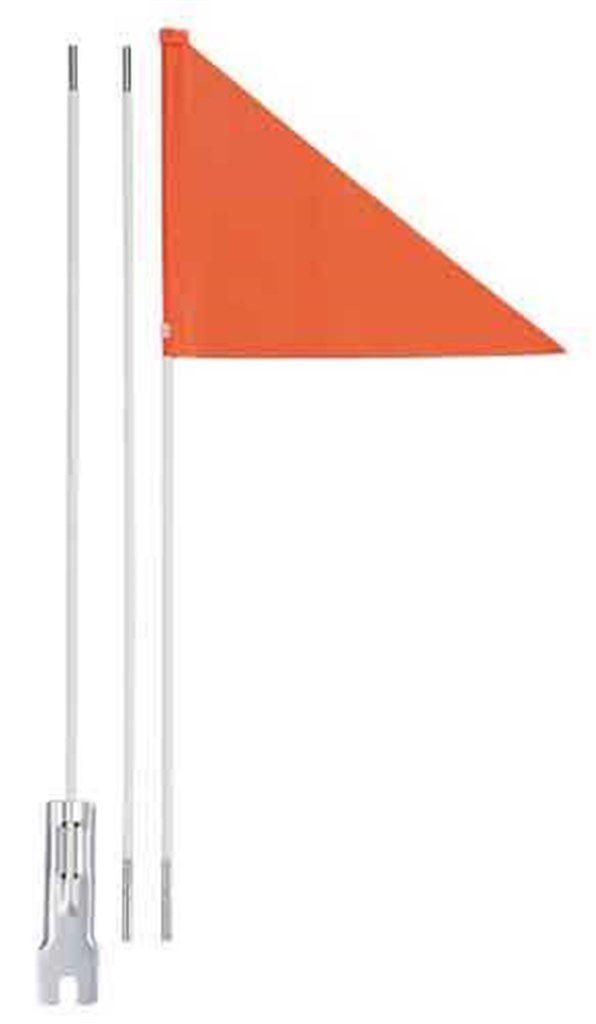 icetoolz fiberglas vlag oranje 150 cm 3 secties