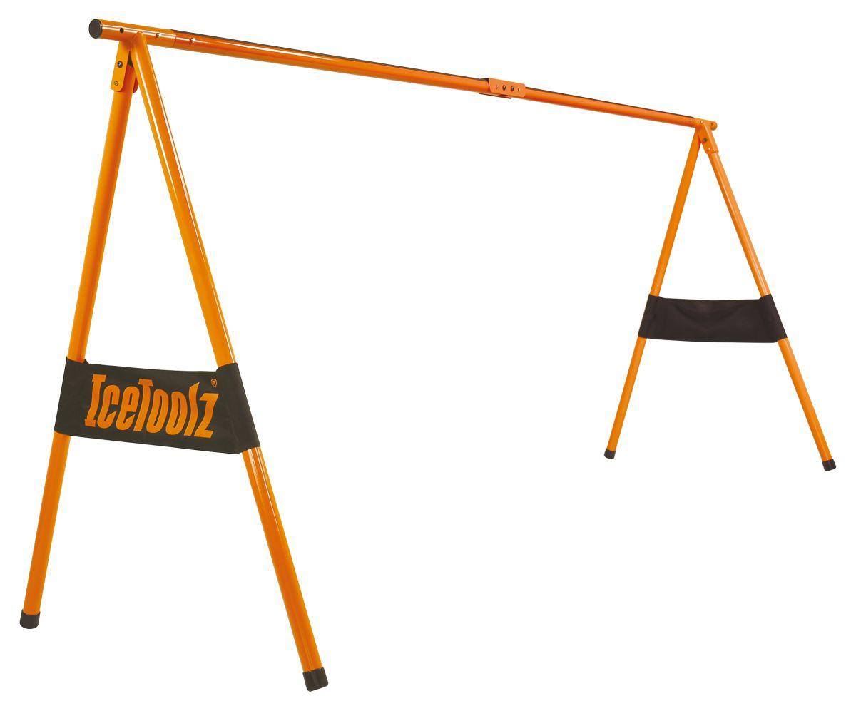 icetoolz fietsshowstandaard p413 voor promotie of opslag max 12 fietsen oranje