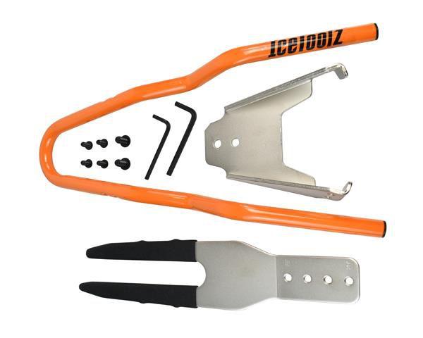 icetoolz fietsshowstandaard p646 voor achterasmontage tot 29 zilver