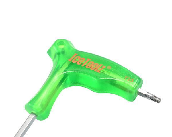 icetoolz hexsleutel 7t twinhead met handvat t25 groen