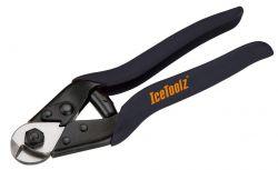 IceToolz kabelkniptang 67B4, met bufferveer ~4.0mm, zwart