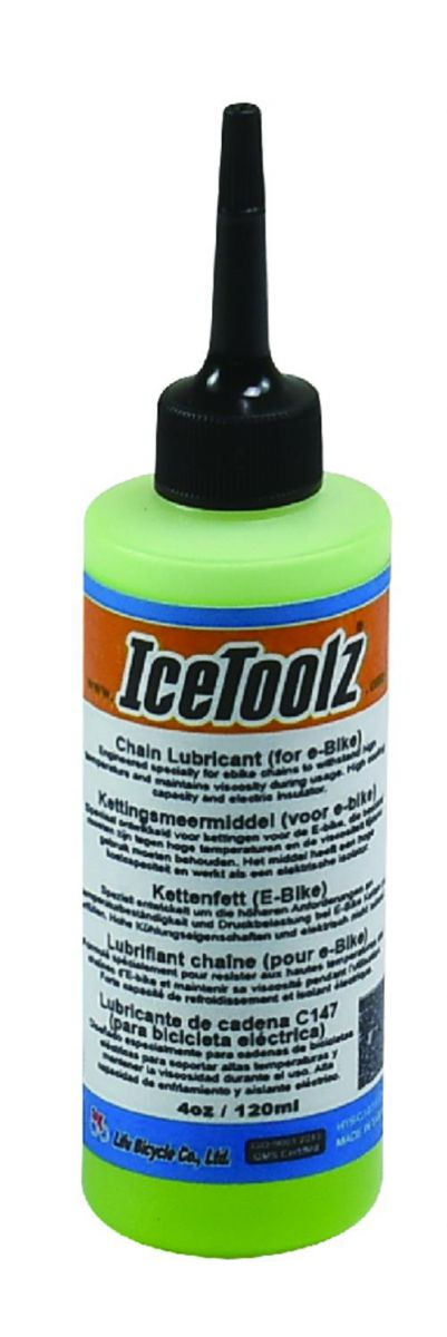 icetoolz lubricating oil c147 for ebike chains 120ml transparent
